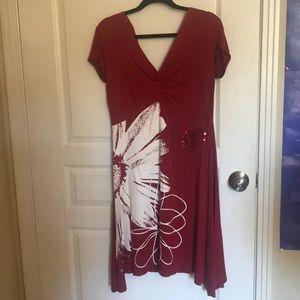 DESIGUAL Dress with Sequin Detail Size L
